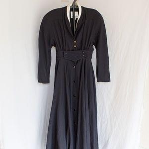Vintage Wayne Clark 100% Wool Pioneer Dress Size 8
